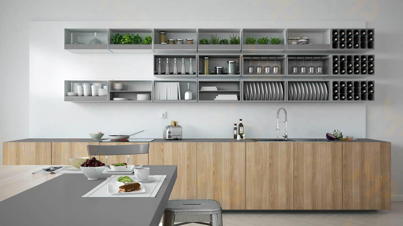ứng dụng gốc mfc trong nội thất bếp