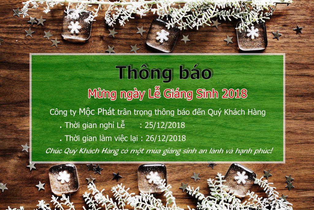 Thông báo nghỉ Lễ Giáng Sinh 2018 1