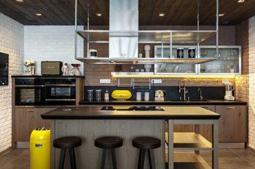 Không gian bếp mang phong cách công nghiệp đẹp hút ánh nhìn
