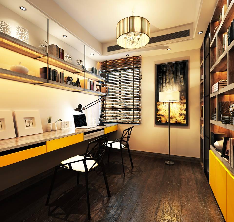 Phòng làm việc tràn trề năng lượng với MFC vàng cam