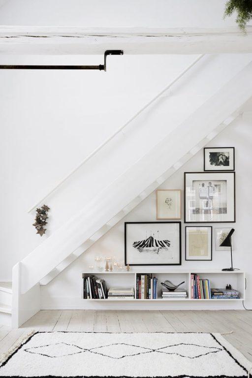 Những mẫu cầu thang kiêm tủ sách bằng gỗ công nghiệp đầy sáng tạo và tiện lợi 4