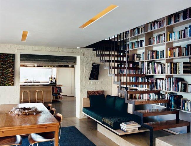 Những mẫu cầu thang kiêm tủ sách bằng gỗ công nghiệp đầy sáng tạo và tiện lợi