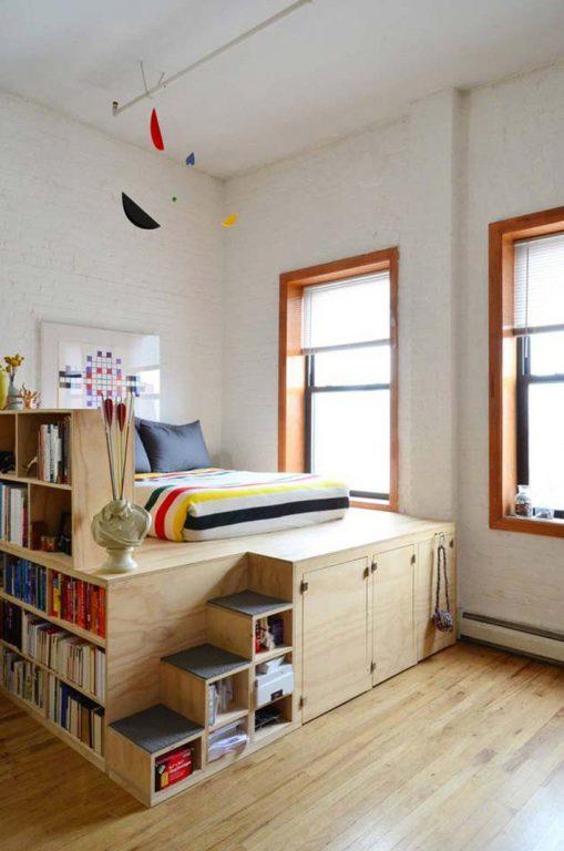 Nội thất gỗ công nghiệp phòng ngủ 8m2
