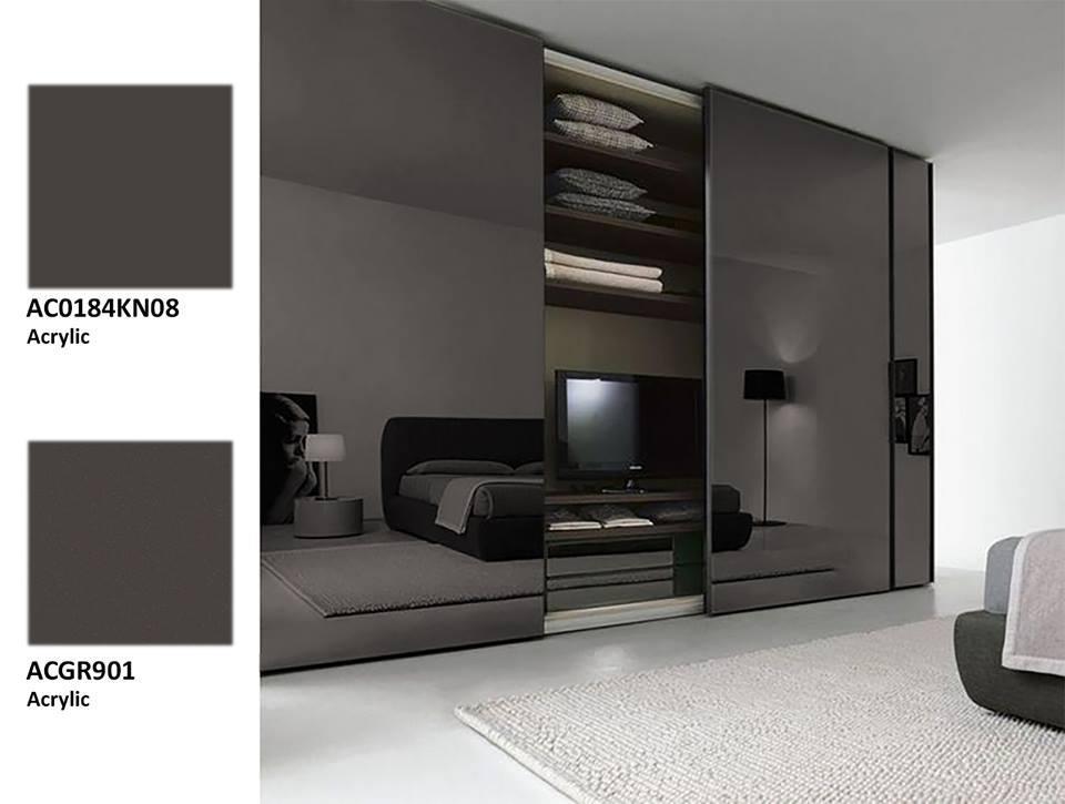 Acrylic xám đen: Không gian phòng ngủ sang trọng