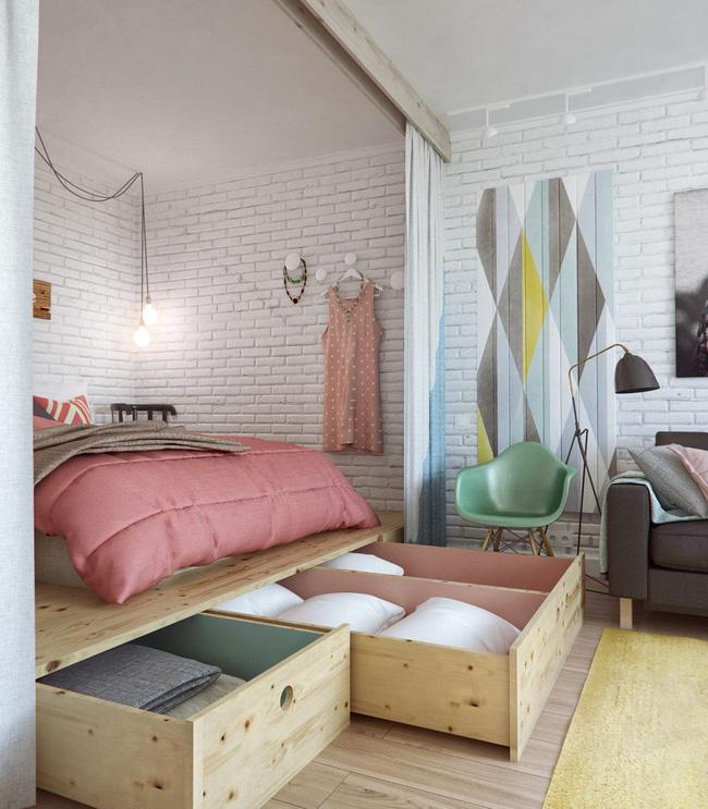 Những mẫu nội thất phòng ngủ tích hợp từ gỗ công nghiệp tuyệt đẹp 1