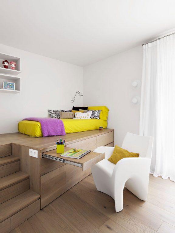 Những mẫu nội thất phòng ngủ tích hợp từ gỗ công nghiệp tuyệt đẹp 4