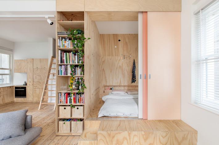 Những mẫu nội thất phòng ngủ tích hợp từ gỗ công nghiệp tuyệt đẹp 5