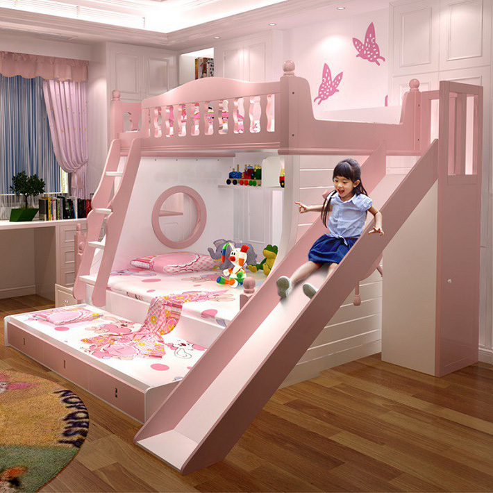 Giường tầng gỗ công nghiệp vừa đẹp, vừa tiện cho gia đình đông con 1