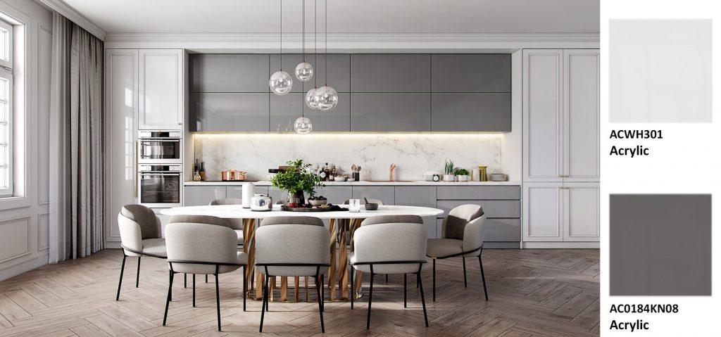 Phòng bếp Acrylic