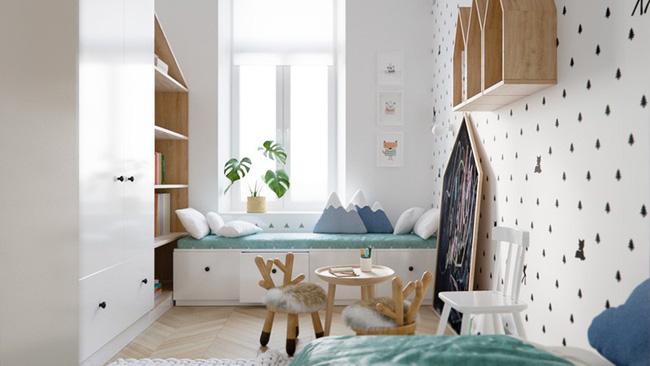 Những căn phòng thoáng mát cho trẻ nhỏ khi mùa Hè về