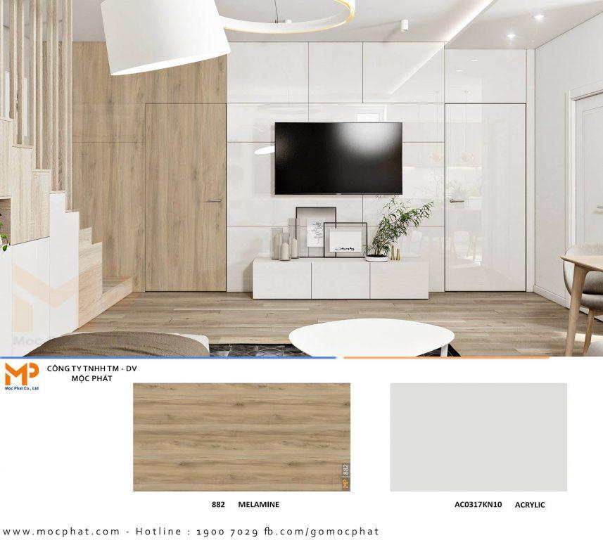 Acrylic phòng khách 1