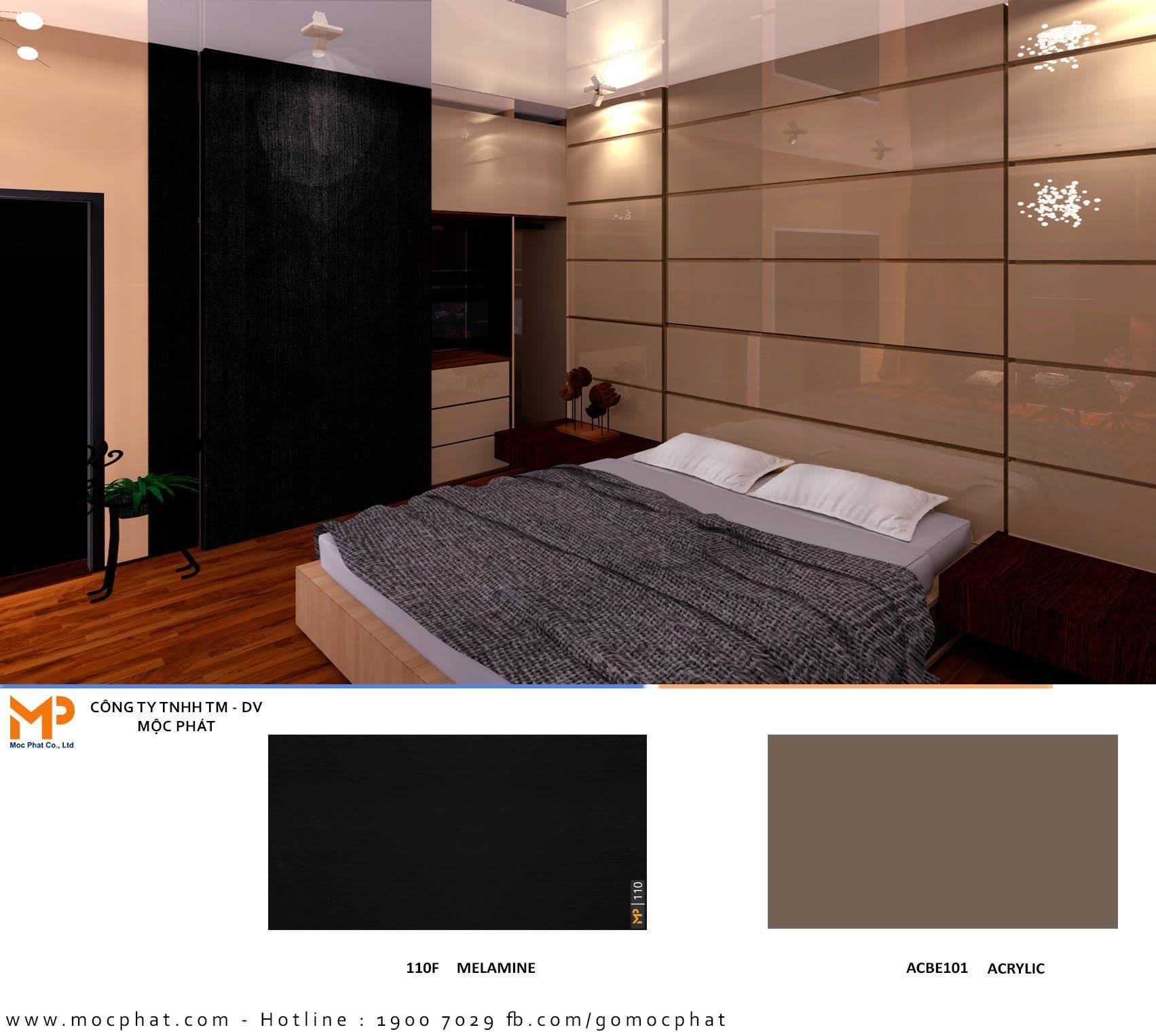 Acrylic phòng ngủ 1