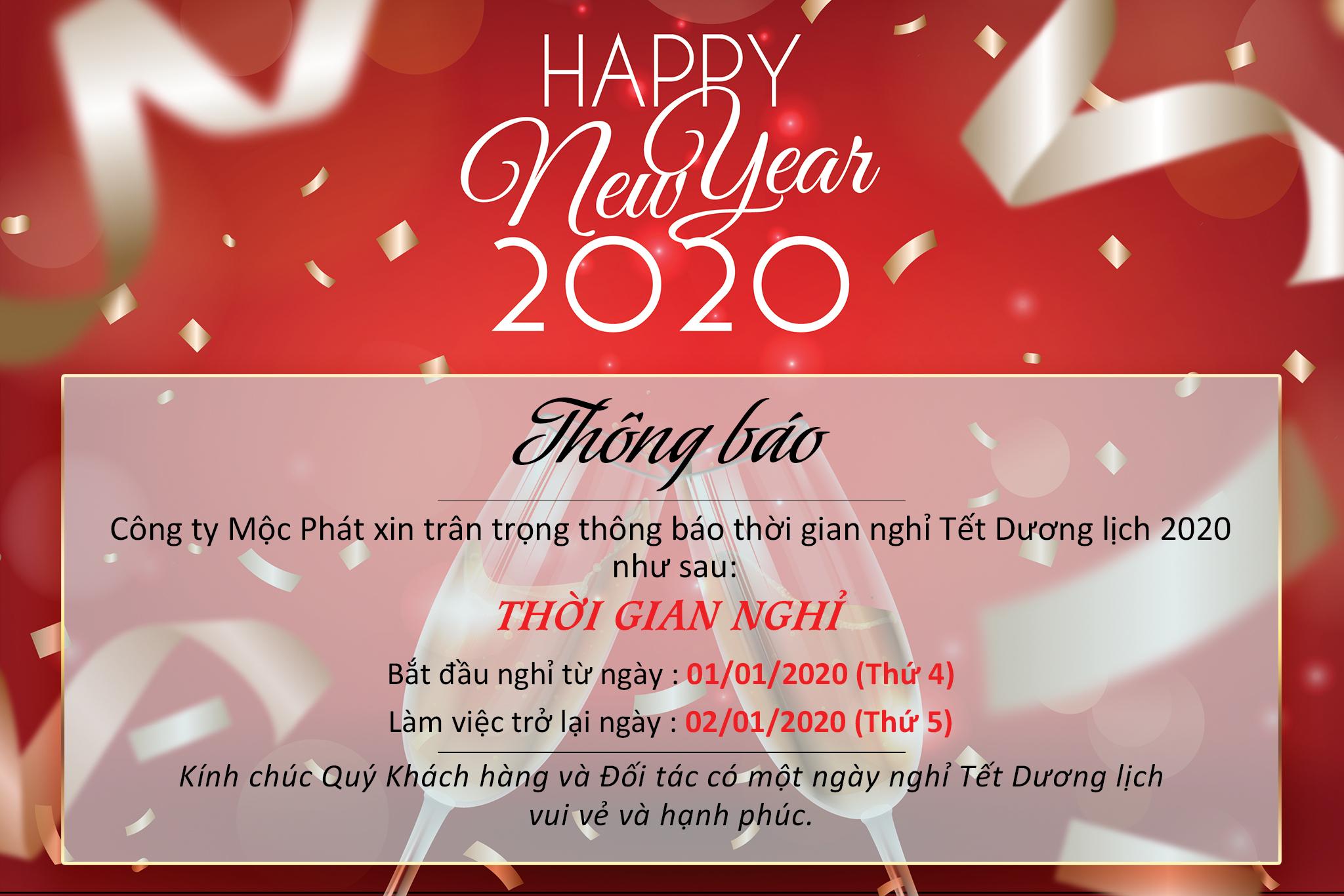 Thông báo nghỉ Tết Dương lịch 2020 1
