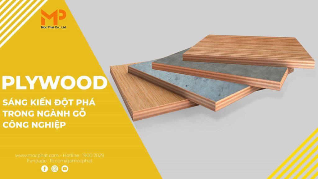 Plywood phủ melamine
