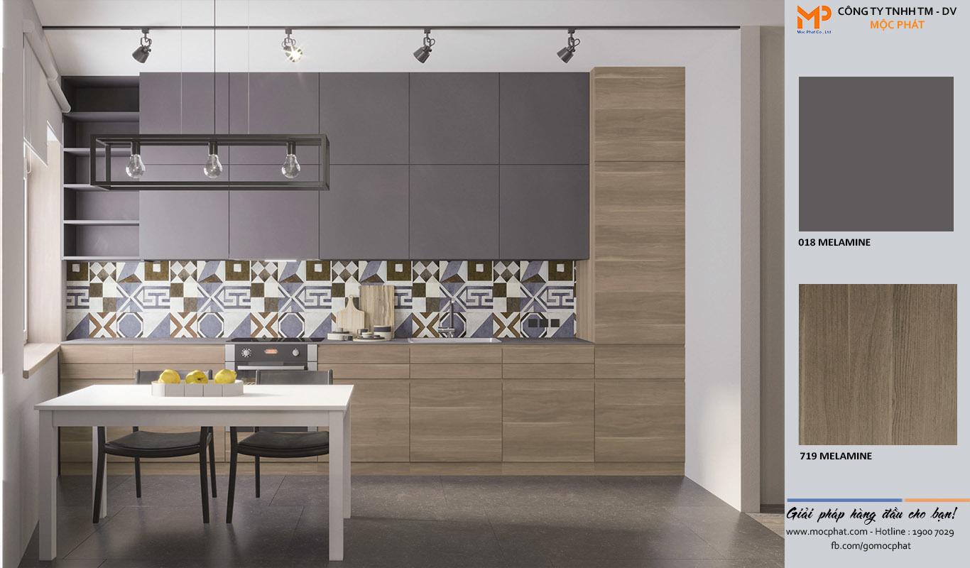 Ván công nghiệp phủ Melamine: Lời giải cho tủ bếp vừa tiện nghi vừa bắt mắt