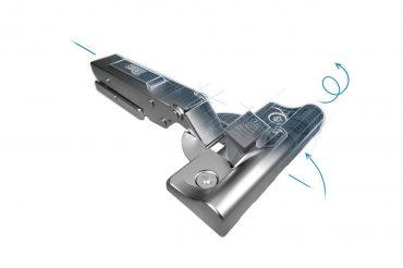 Bản lề giảm chấnTitus T-Type: giải pháp hoàn hảo cho cửa tủ