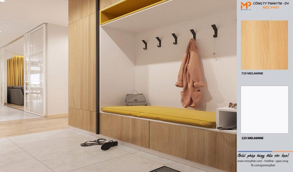 Ứng dụng tủ quần áo mdf phủ melamine