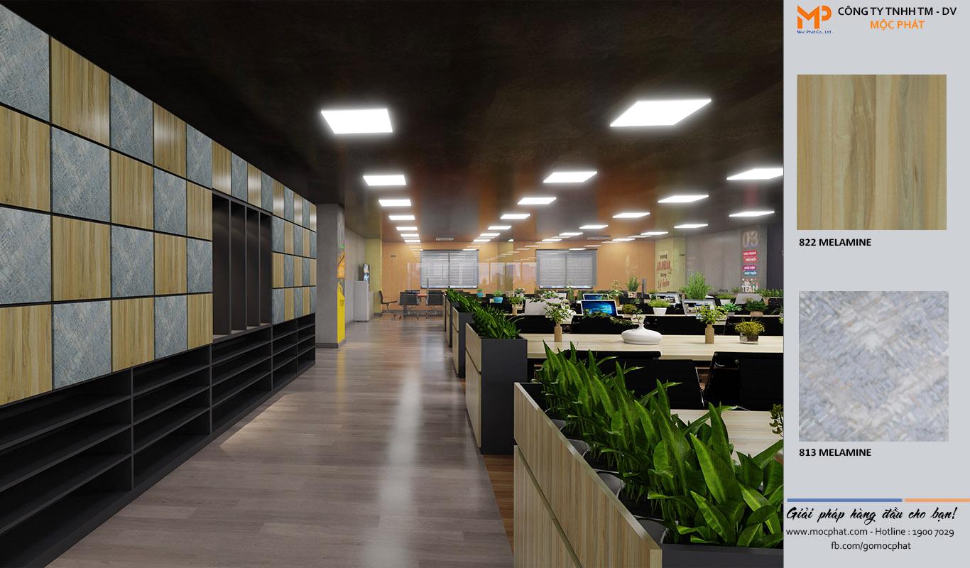 Thiết kế văn phòng ván MFC