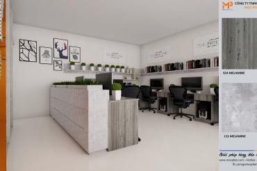 Bàn làm việc với ván MFC Mộc Phát – Sự lựa chọn ưa thích của các công ty nội thất
