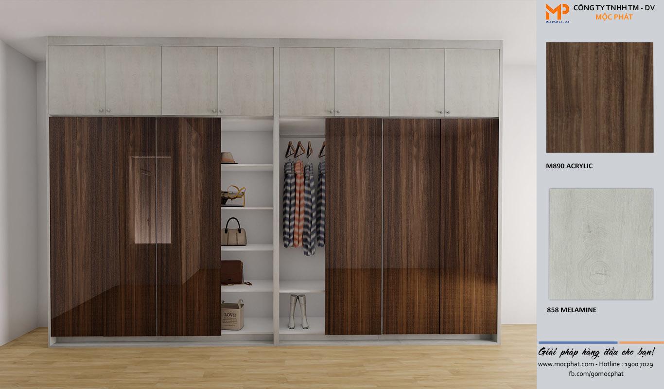 Lý do chọn tủ quần áo acrylic từ ván gỗ Mộc Phát cho căn phòng của bạn 3