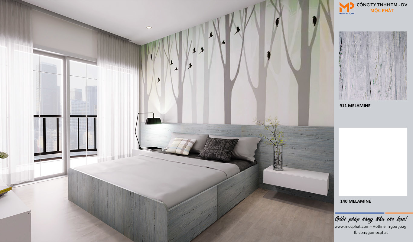 giường ngủ từ gỗ công nghiệp mdf