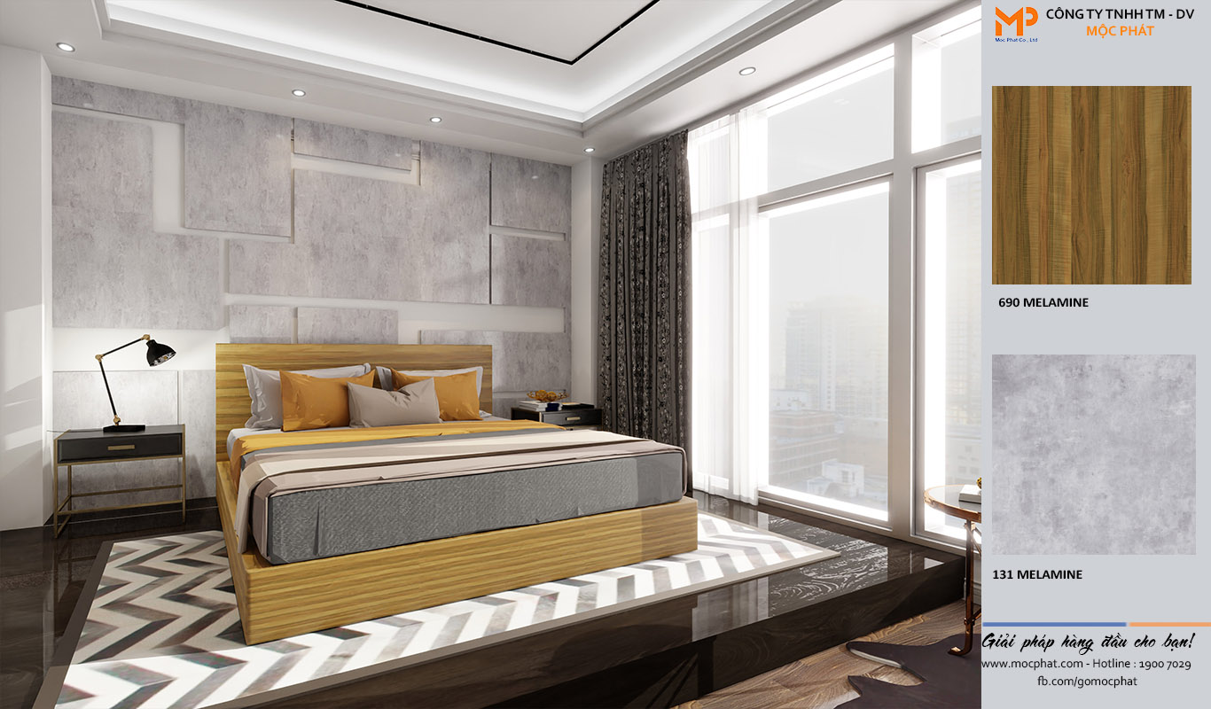 giường phòng ngủ phong cách vintage